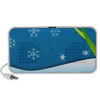 País de las maravillas del invierno laptop altavoces