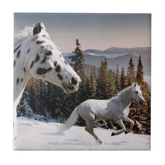 País de las maravillas del invierno tejas  cerámicas