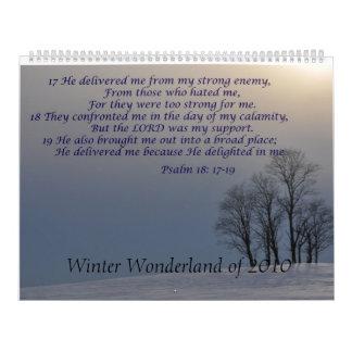 País de las maravillas del invierno calendarios de pared