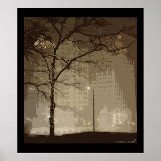 País de las maravillas del invierno de Chicago Poster
