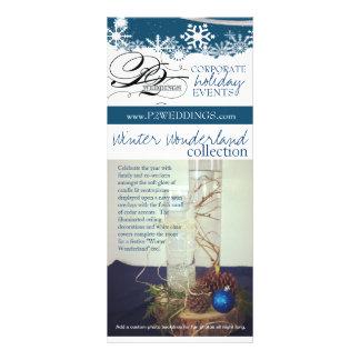 País de las maravillas del invierno de los bodas P Tarjeta Publicitaria A Todo Color