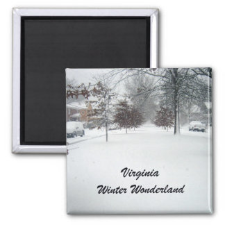 País de las maravillas del invierno de Virginia Imán Cuadrado