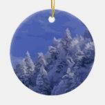 País de las maravillas del invierno ornamentos de navidad