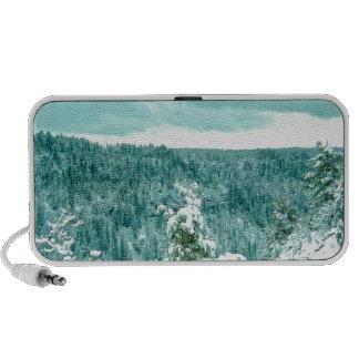 País de las maravillas del invierno del bosque de portátil altavoces