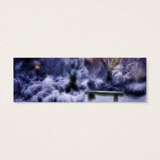 País de las maravillas del invierno del bosque tarjetas de visita mini