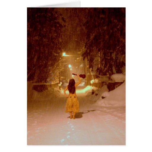 País de las maravillas del invierno del Ukulele Felicitación