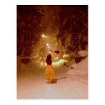 País de las maravillas del invierno del Ukulele Postal