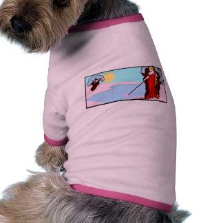 País de las maravillas del invierno del vintage camisas de perritos