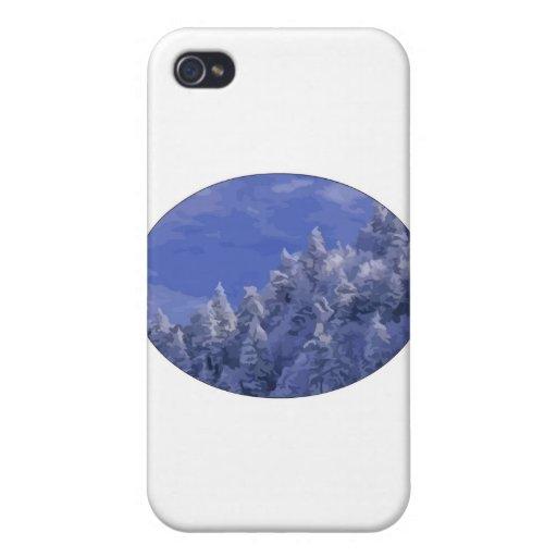 País de las maravillas del invierno iPhone 4/4S carcasa