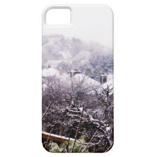 País de las maravillas del invierno funda para iPhone SE/5/5s