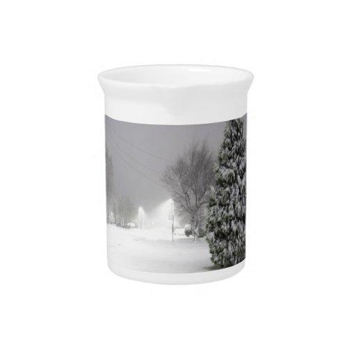 País de las maravillas del invierno jarras de beber