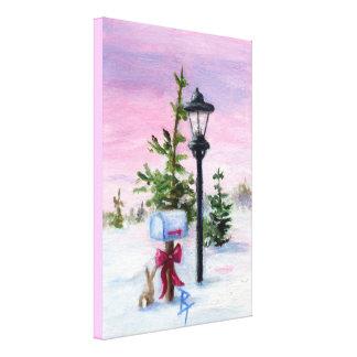 País de las maravillas del invierno impresión de lienzo