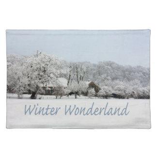 país de las maravillas del invierno mantel