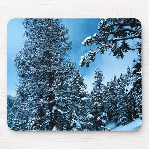 País de las maravillas del invierno mousepad