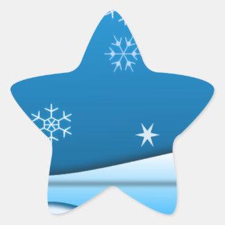 País de las maravillas del invierno calcomania forma de estrella personalizadas