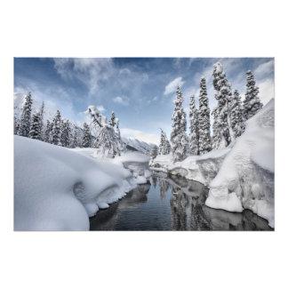 País de las maravillas del invierno impresion fotografica