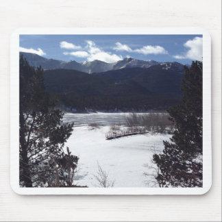 País de las maravillas del invierno, pico de los alfombrilla de ratón