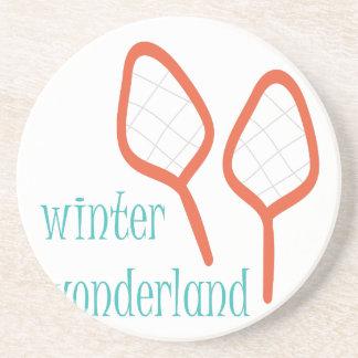 País de las maravillas del invierno posavasos personalizados