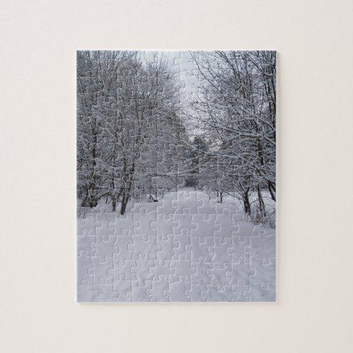 País de las maravillas del invierno puzzles con fotos