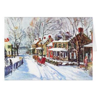 País de las maravillas del invierno tarjeton
