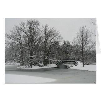 País de las maravillas del invierno tarjeta pequeña