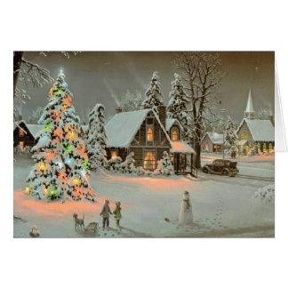 País de las maravillas del invierno tarjeta