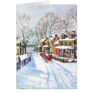 País de las maravillas del invierno felicitación