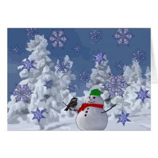 País de las maravillas del invierno tarjeta de felicitación