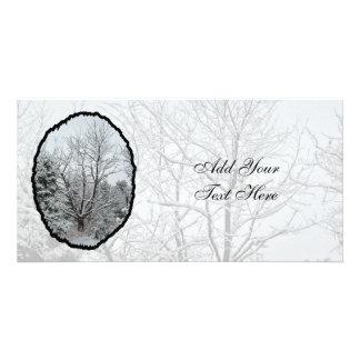País de las maravillas del invierno tarjeta personal