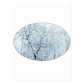 País de las maravillas del invierno tarjeta postal