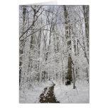 País de las maravillas del invierno tarjetón