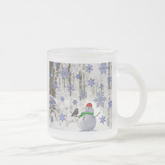 País de las maravillas del invierno taza de cristal