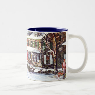 País de las maravillas del invierno tazas