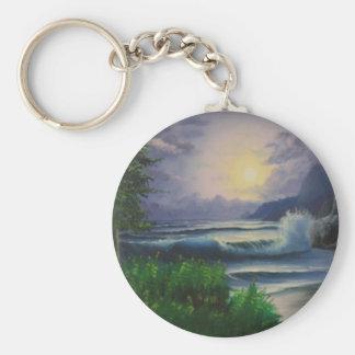 País de las maravillas del paisaje marino llaveros personalizados