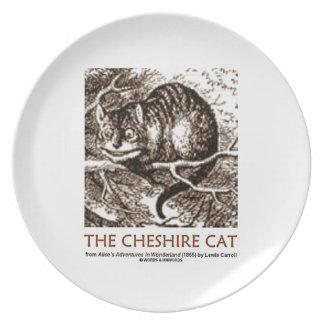 País de las maravillas el gato de Cheshire Plato Para Fiesta