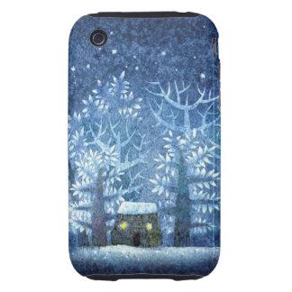 País de las maravillas femenino del invierno del tough iPhone 3 coberturas