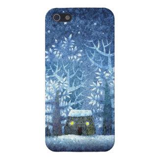 País de las maravillas femenino del invierno del v iPhone 5 fundas
