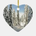 País de las maravillas Nevado Adornos De Navidad