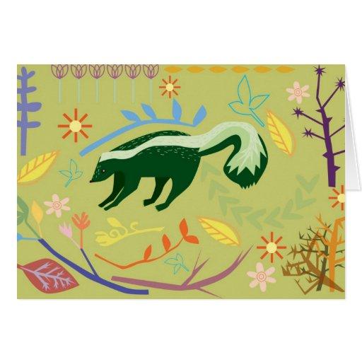 país de las maravillas skunky tarjeta de felicitación