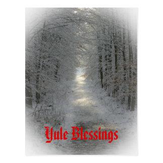 País de las maravillas Yule del invierno/solsticio Postal