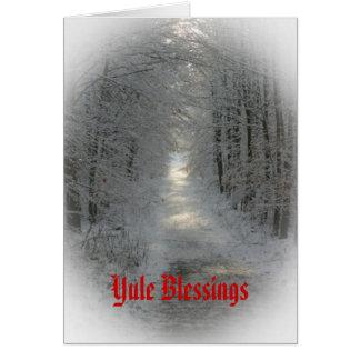 País de las maravillas Yule/solsticio del invierno Felicitaciones