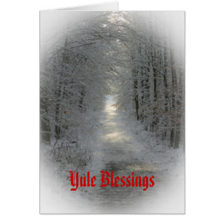 País de las maravillas Yule/solsticio del invierno Tarjeta De Felicitación