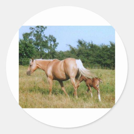 País del caballo pegatina redonda