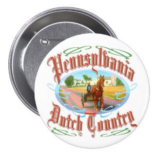 País del dialecto de Pennsylvania Pin Redondo De 3 Pulgadas