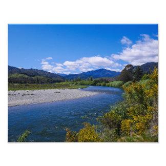 País del glaciar, Nueva Zelanda - impresión de la Fotografía