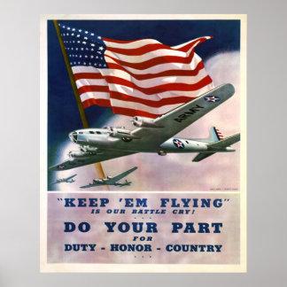 País del honor del deber póster