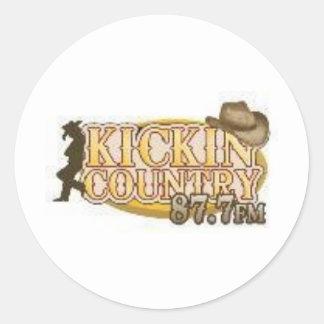 país del kickin pegatina redonda