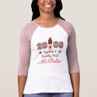 País del lápiz labial primera 2008 camisetas del