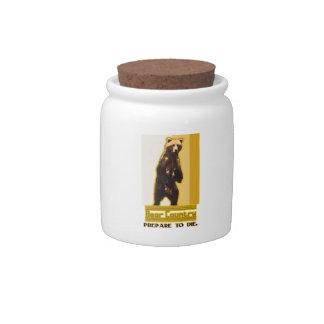 País del oso jarras para caramelos