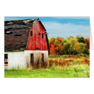 País del otoño tarjeta pequeña